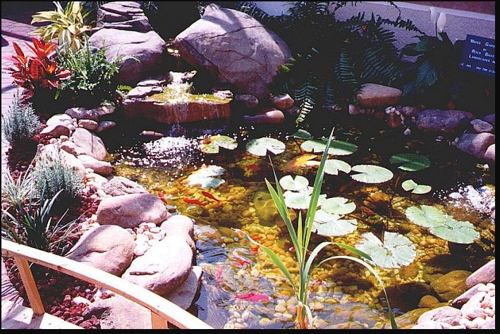 Pin fake rock pond on pinterest for Koi pool fleetwood